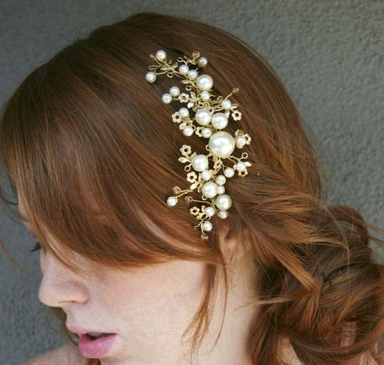 Golden One comb, metal tiara. $55.00, via Etsy.