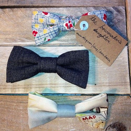 handmade bow ties now at Red Clover by Dara