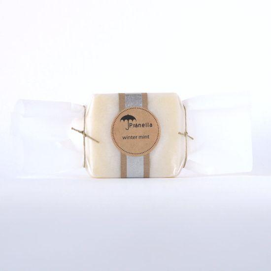Winter Mint Soap Vegan Handmade Soap made in Portland, Oregon by prunellasoap