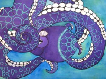 Decorative Line Animals - Acrylic Paint
