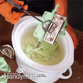 Hot water paint stripping