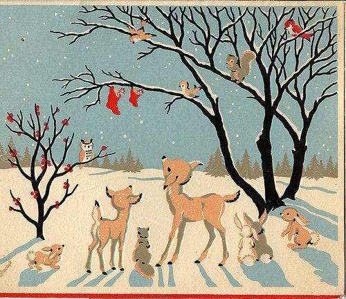 Vintage Christmas greeting card