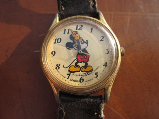 Mickey Mouse watch - I had one with a red wrist band.