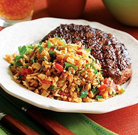 Southwestern Rice Pilaf - This dish makes a delicious accompaniment to steak or chicken fajitas.