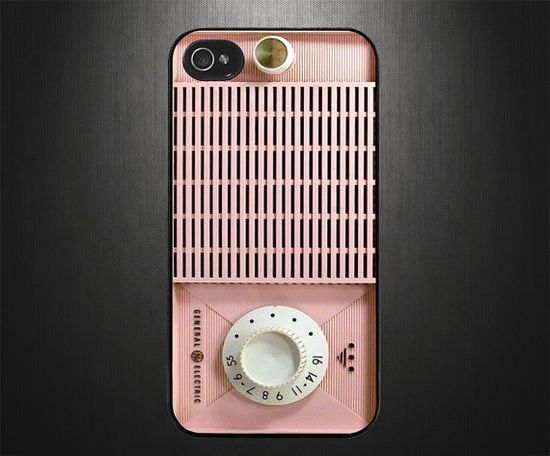 iPhone 5S case iPhone 5S cover Pink Radio by CaseBasement on Etsy, $15.50