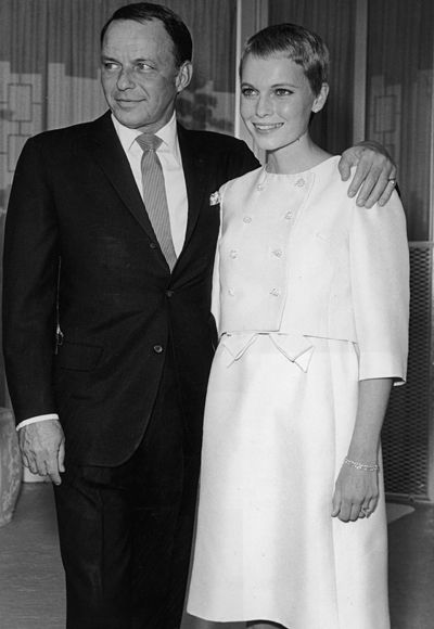 Mia Farrow is simple chic for her wedding to Frank Sinatra in 1966.