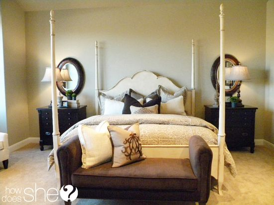 Room by Room Decorating Secrets - The Bedroom! Great ideas on how to bring color, personality, patterns, or soothing elements to the space!