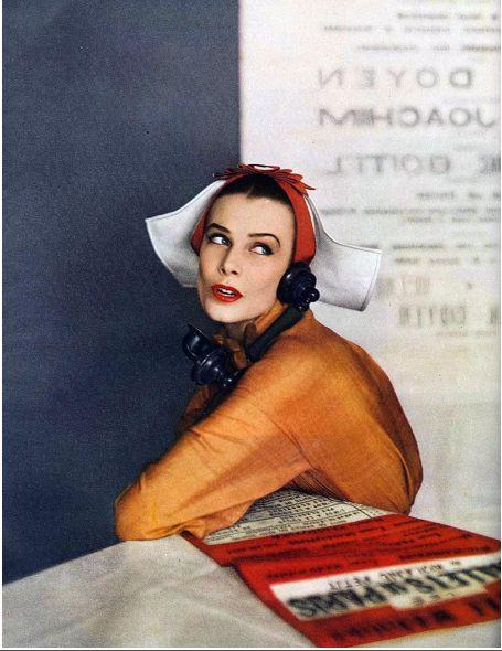 Lillian Marcuson. Photo by Richard Avedon, Harper's Bazaar, April, 1950.