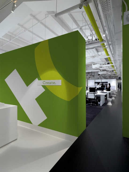 Helius Creative - Office Design & Brand (can use a small wall to break the space up)