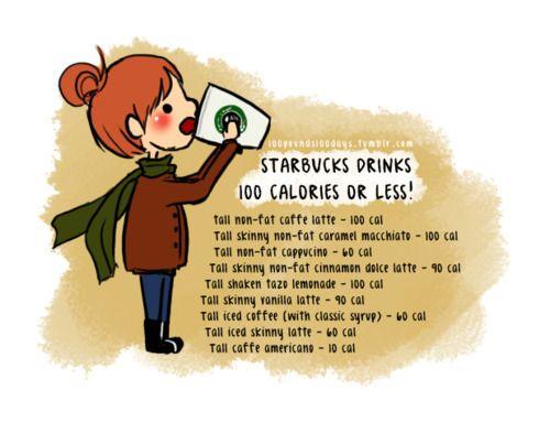 Starbucks drinks 100 calories or less