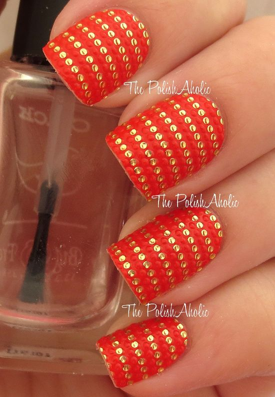 25 beautiful orange nail art