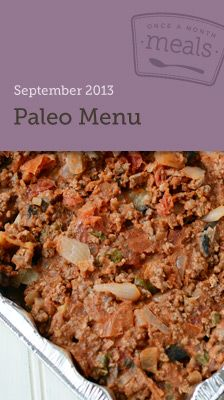 Paleo September 2013 Freezer Menu - fill your freezer with paleo favorites to make your meal planning easier this month. #freezercooking #paleo #mealplanning