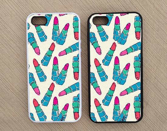 Cute Lipstick Makeup iPhone Case, iPhone 5 Case, iPhone 4S Case, iPhone 4 Case - SKU: 180