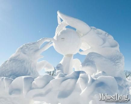 Saint Paul Winter Carnival ice sculpture. Cllck to choose this or other Minnesota photos for your desktop!