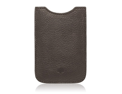Mulberry - iPhone Cover in Chocolate Natural Leather