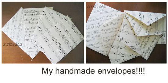 Handmade music envelopes