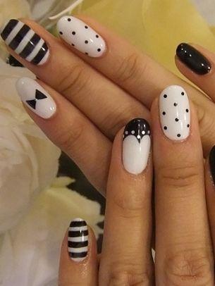 Brilliant Nail Art Ideas 2012 - black and white