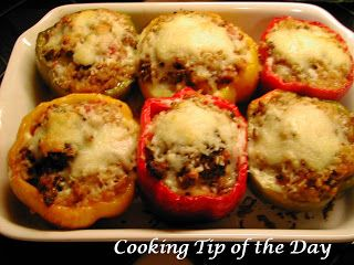 Cooking Tip of the Day: Recipe: Italian Sausage Stuffed Peppers