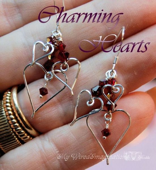 Wire Jewelry Tutorial - Charming Hearts I - Charms, Earrings, Pendants
