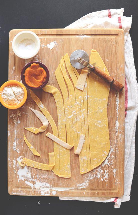 Pumpkin Pasta from Scratch! minimalistbaker.com