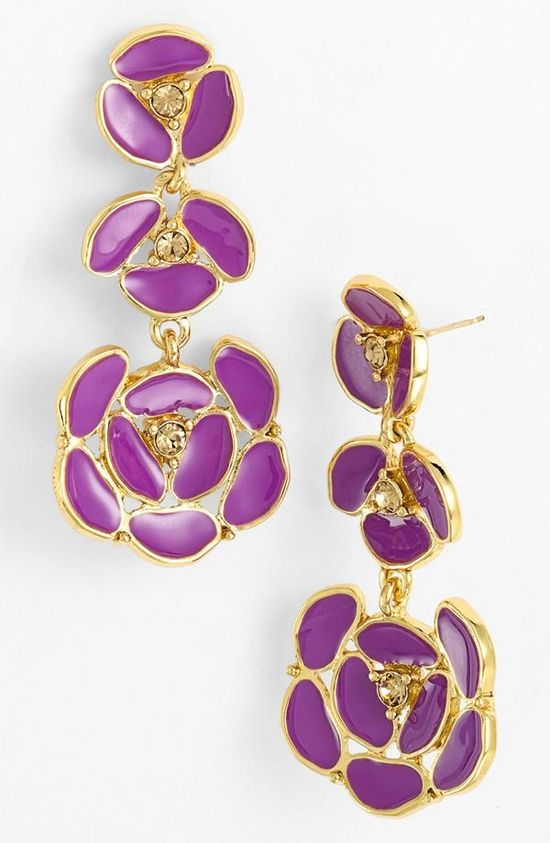 So fun! kate spade new york floral chandelier earrings