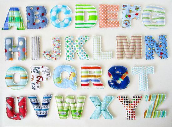 Plush alphabet, make for hani