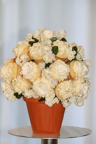 cupcake flower arrangement