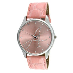 Viva Women's Silvertone Round Dial Initial 'A' Watch  $27.04