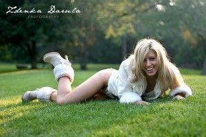 blond sexy fashion model