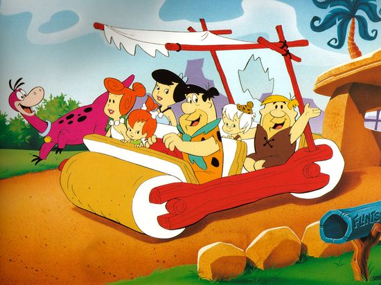 Flintstones - Flintstones. Meet the Flintstones. They're the modern stone age family. From the town of Bedrock, They're a page right out of history. Let's ride with the family down the street. Through the courtesy of Fred's two feet. When you're with the Flintstones you'll have a yabba dabba doo time. A dabba doo time. You'll have a gay old time