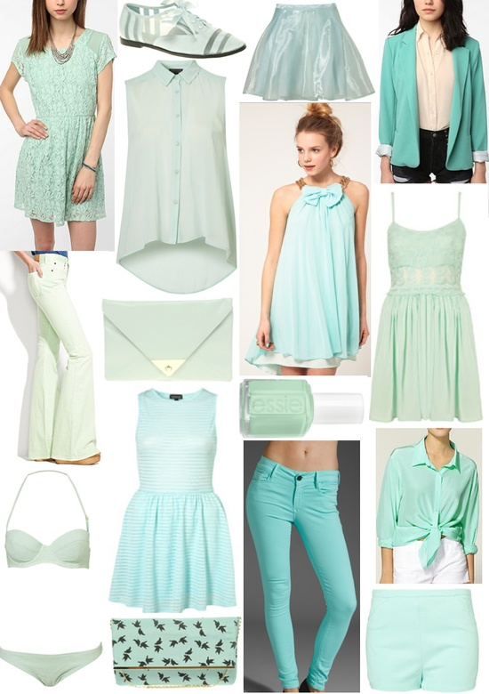 mint outfit ideas from sequined silver lining (and the talented Natalie Navis)