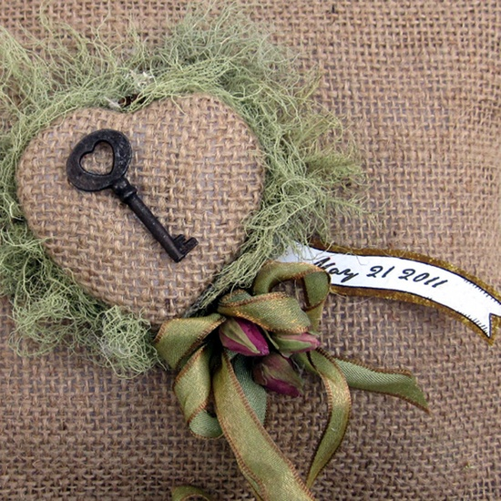 Ring Bearer Pillow Wedding Rustic Country by InTheBluebellWoods, $42.00