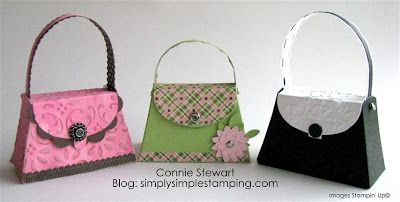 Petite Purses from Stampin Up's new die!