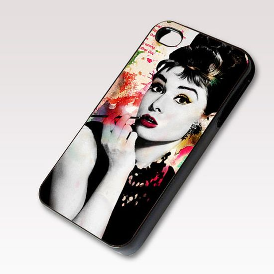 Audrey Hepburn Quotes, Photo on Hard Case for iPhone 4 / 4s or iPhone 5 case