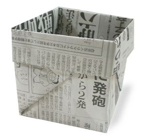 How to fold a box from newspaper. Then you can plant your seeds in them then plant the whole thing in the ground!