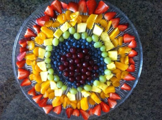 Fruit tray....a great hot afternoon snack!  YUMMY!!!