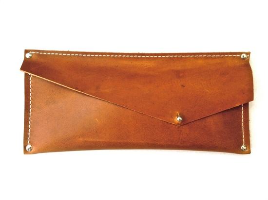 leather envelope wallet / @Graham Jenkin Keegan.