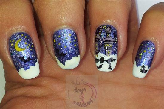 Halloween nails by daysofnailartnl from Nail Art Gallery