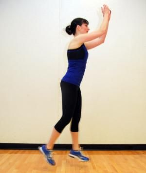 You already know and love (to hate?) lunges. Add a jump between alternating legs to up the difficulty and cardio factor.