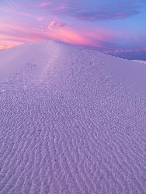 Pastel desert sand dune