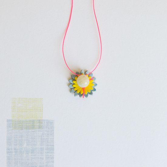 Image of Leather flower gem