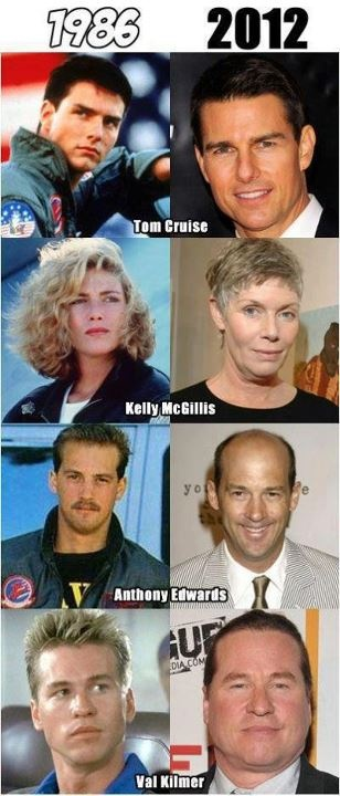 Celebrities now and then comparison chart!