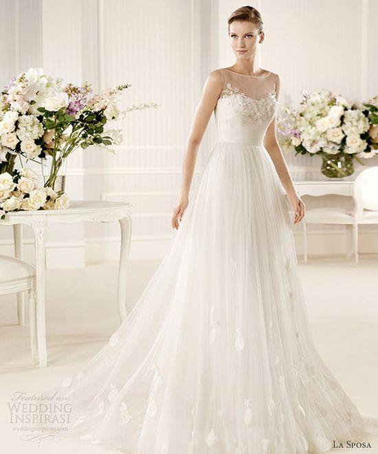 la sposa 2013 wedding dress morse sleeveless illusion gown
