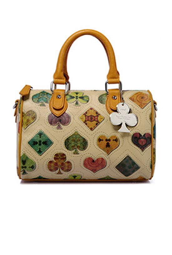 One of the CUTEST new handbags we just got in. Happy Go Lucky Suit Monogram Satchel Handbag  $64.99