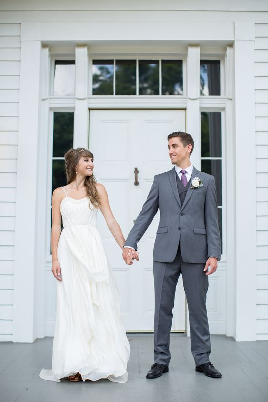 Kimberly & Blake // Bride wore the Cascading Goddess Gown by @Catherine Deane for BHLDN