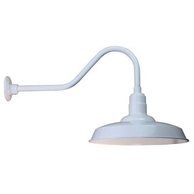 Illumine 18 in. Warehouse Shade, White, Arm-CLI-470 at The Home Depot