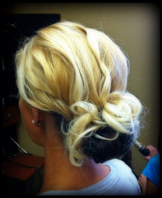 Wedding updo, messy bun