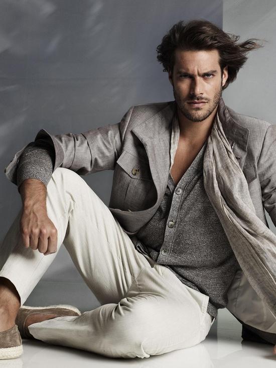 Corneliani. Fresh men's fashion . V neck Cardigan & Layering !!