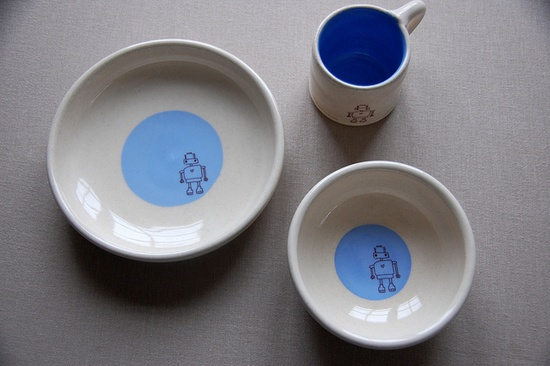 Handmade pottery sets. Newhouseproject