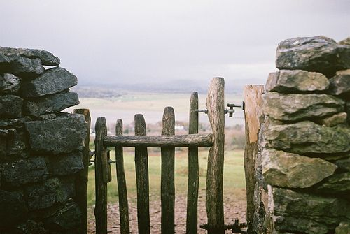 Rustic gates and stone fences